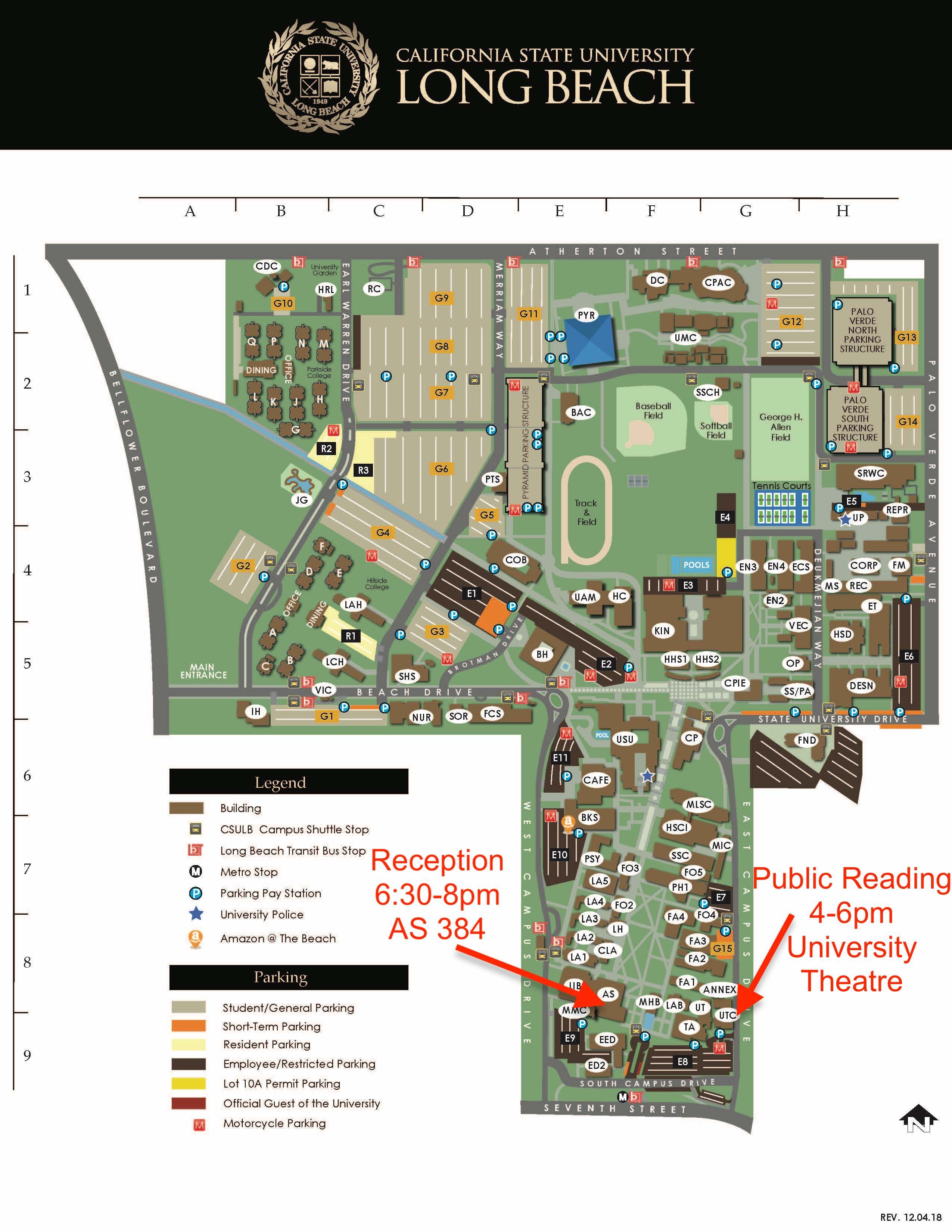 Long Beach State Campus Map Hotel And Beach